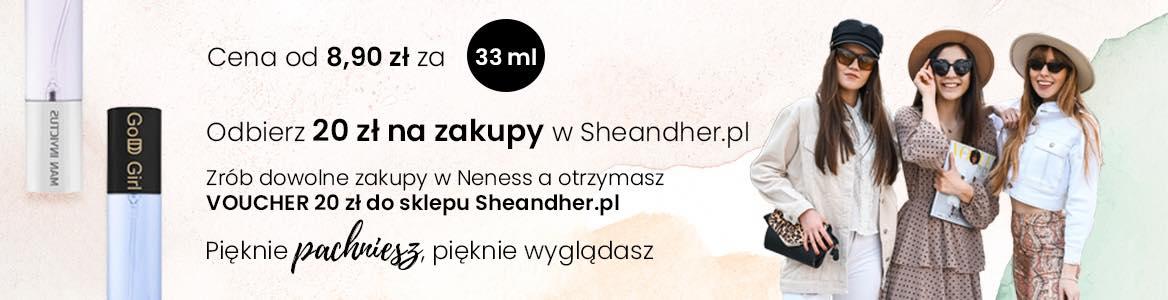 20 zł na zakupy w Sheandher.pl od Neness.pl